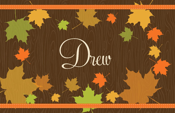 Personalized Fall Leaves Placemat | Frecklebox