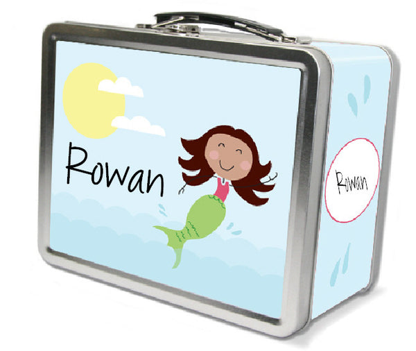 Brown Hair Mermaid Lunch Box - frecklebox