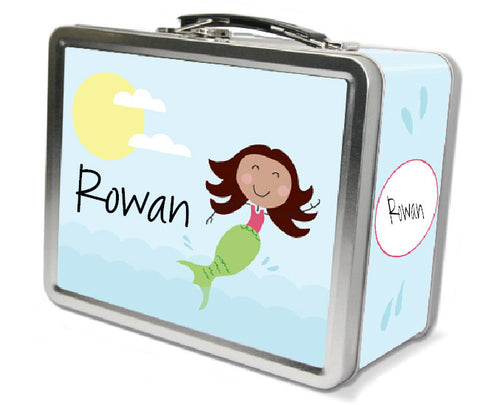 Brown Hair Mermaid Lunch Box