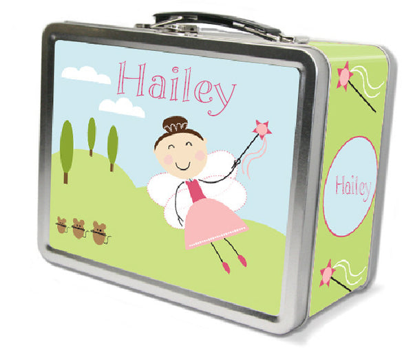 Dark Brown Hair Fairy Lunch Box - frecklebox