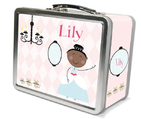 Black Hair Glam Princess Lunch Box - frecklebox