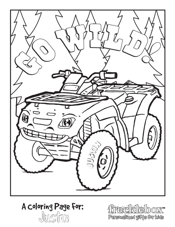 Go Wild! Coloring Page - frecklebox