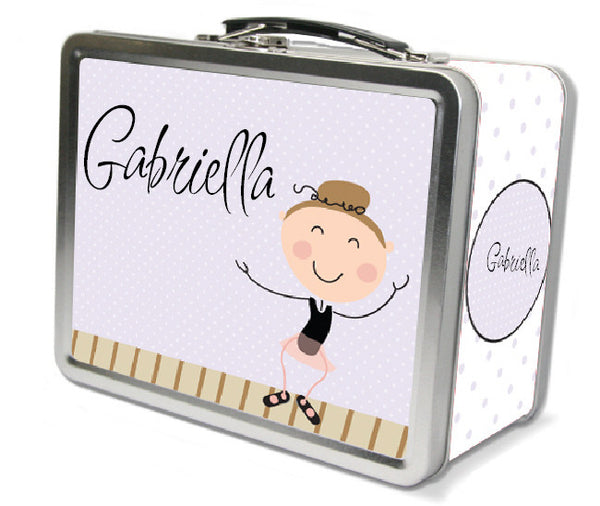 Light Brown Hair Tap Dancer Lunch Box - frecklebox