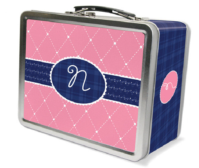 Quilted Monogram Lunchbox - frecklebox