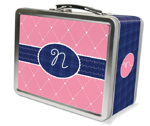 Quilted Monogram Lunchbox