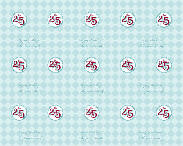 Holiday Wrapping Paper 6ft - frecklebox