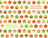 Holiday Cupcakes Wrapping Paper 12ft - frecklebox