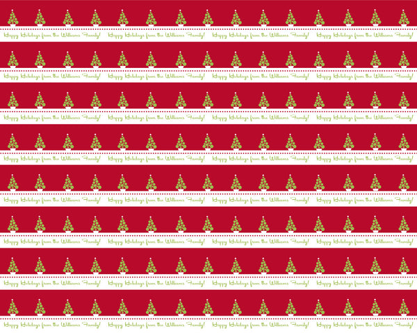 Holiday Stripes Wrapping Paper 6ft - frecklebox
