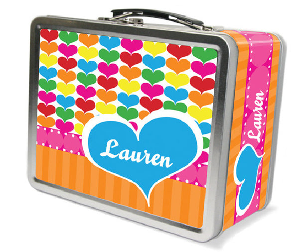 Rainbow Hearts Lunchbox - frecklebox