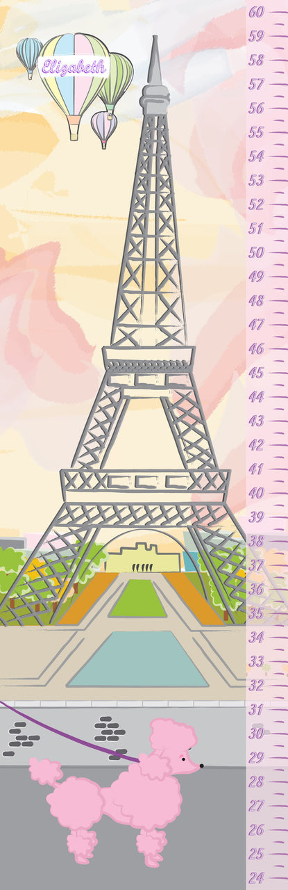 Pink Growth Chart - frecklebox