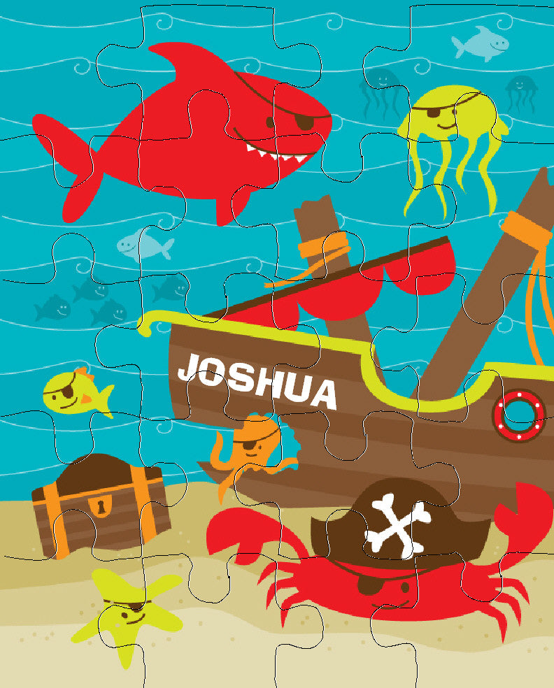 Pirate Fish Puzzle - frecklebox