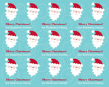 Mod Santa Wrapping Paper 12ft - frecklebox