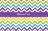 Rainbow Chevron Placemat