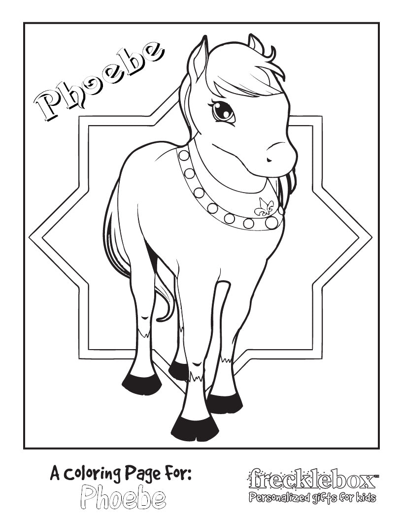 Princess Pony Coloring Page - frecklebox