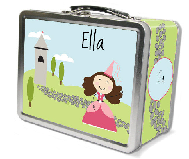 Dark Brown Hair Princess Lunch Box - frecklebox