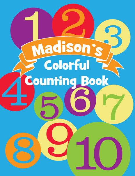 Colorful Counting Coloring Book - frecklebox