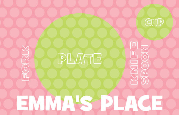 Pink Polka Dots Placemat - frecklebox