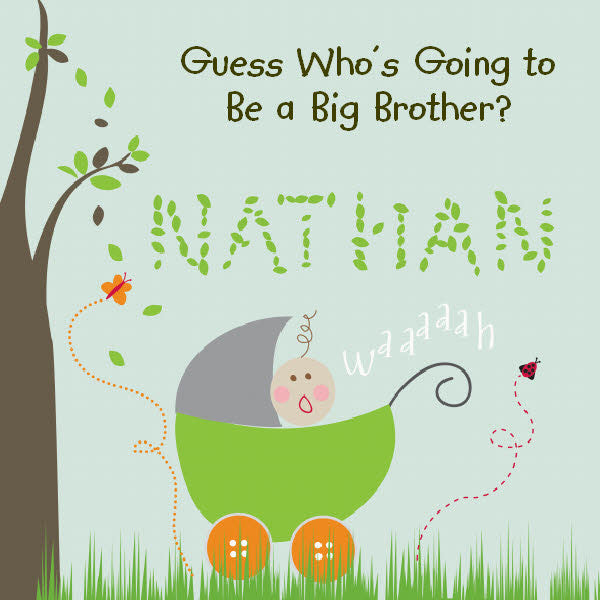 Big Brother Personalized Storybook - Hard Cover - frecklebox