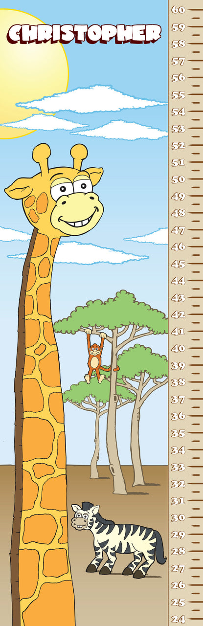 Giraffe Growth Chart - frecklebox