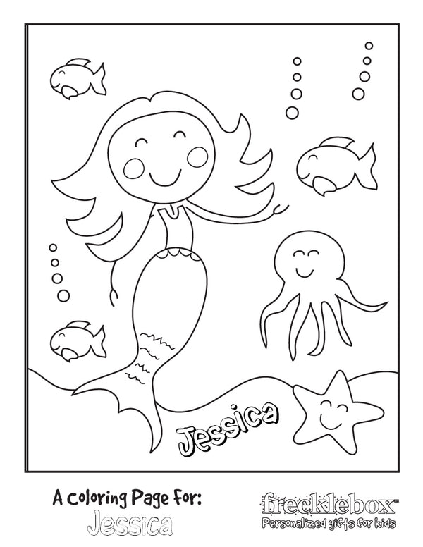 Mermaid Friends Coloring Page - frecklebox