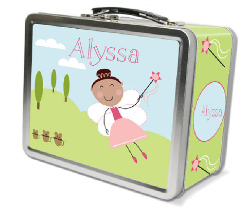 Brown Hair Fairy Lunch Box