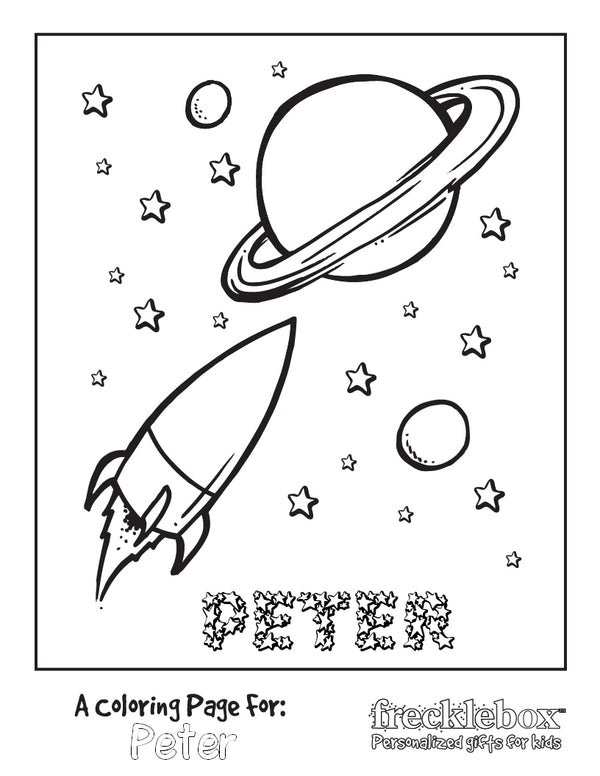Space Cadette Coloring Page - frecklebox