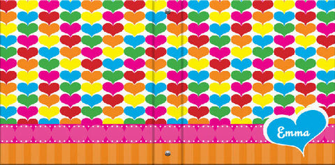 Rainbow Hearts Binder