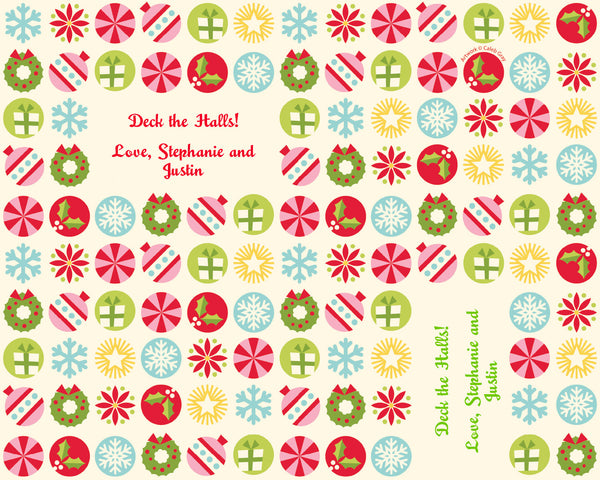 Holiday Icons Wrapping Paper 6ft - frecklebox