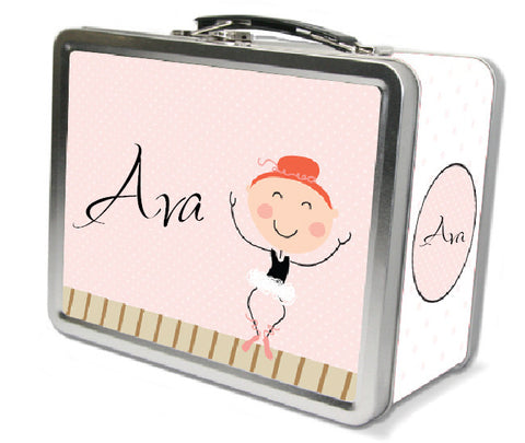 Red Hair Ballerina Lunch Box