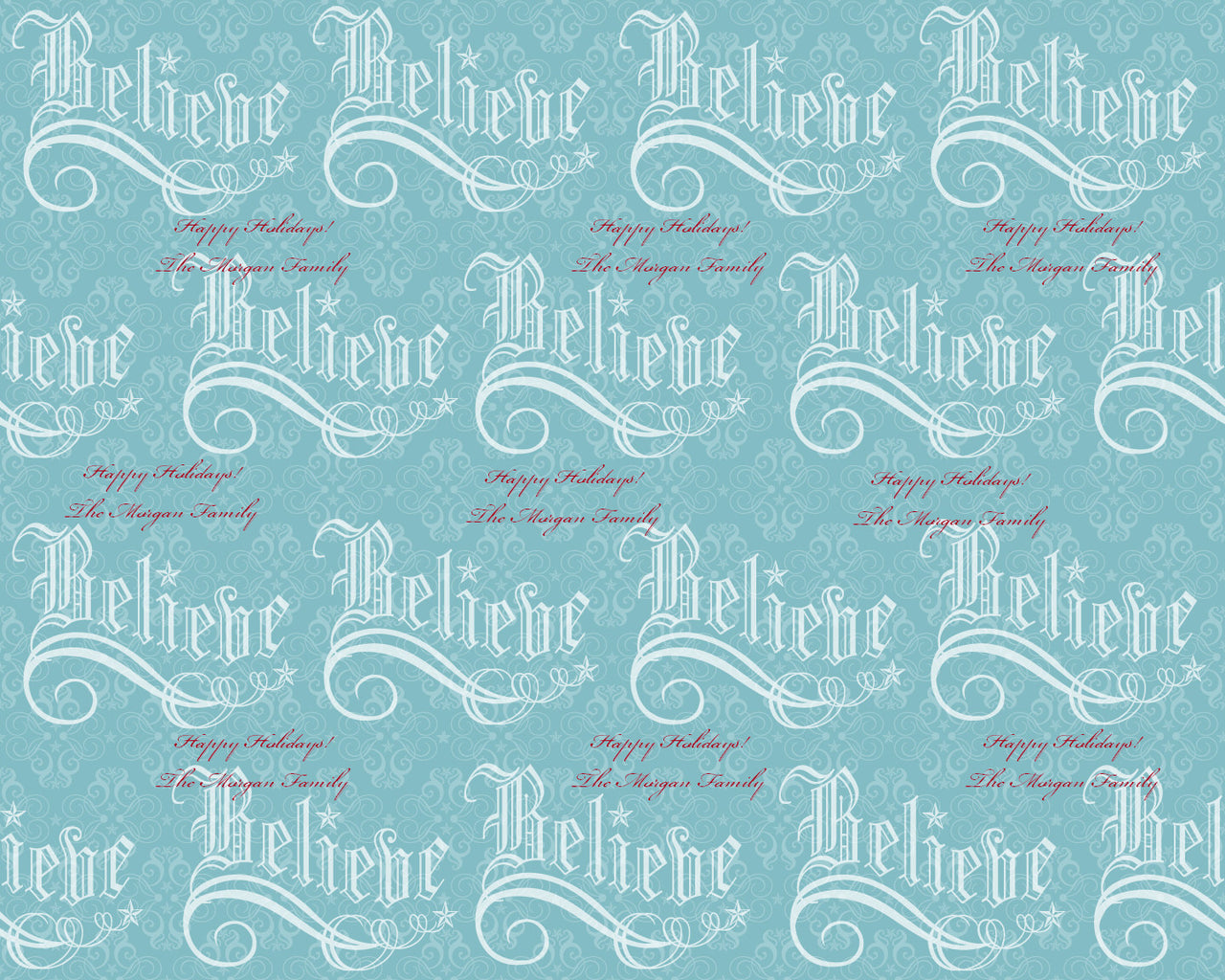 Believe Holiday Wrapping Paper 6ft - frecklebox