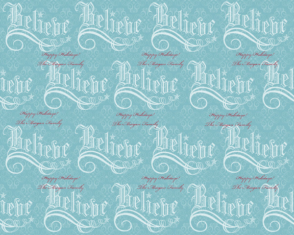 Believe Holiday Wrapping Paper 12ft - frecklebox