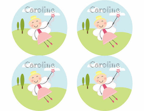 Blonde Hair Fairy Personalized Stickers
