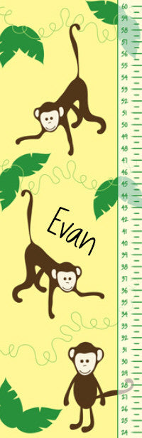 Monkeys Growth Chart - frecklebox