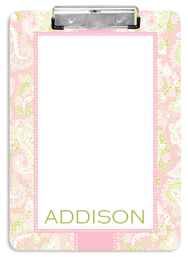 Pink Paisley Clipboard - frecklebox
