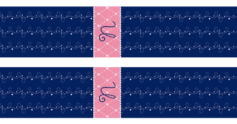 Quilted Monogram Bookmarks