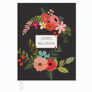 Floral and Dots Journal - frecklebox