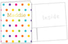 Rainbow Polka Dots Foiled Folder
