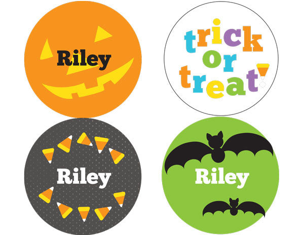 Candy Corn Halloween Personalized Stickers - frecklebox