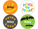 Candy Corn Halloween Personalized Stickers