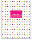 Rainbow Chevron with Hearts Notebook