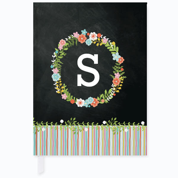 Floral Monogram Journal - frecklebox