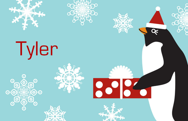 Holiday Penguin Placemat - frecklebox