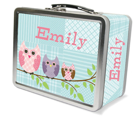 Quilted Owls Lunchbox