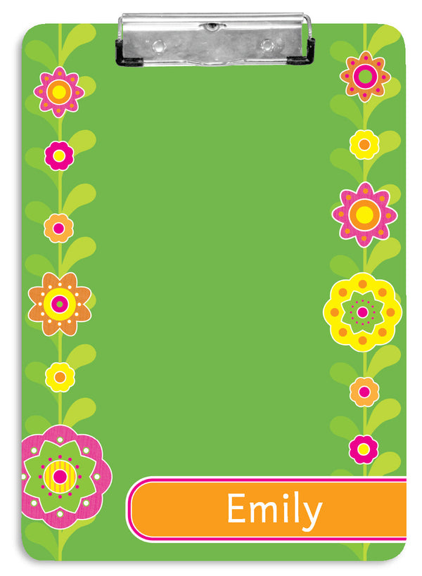 Flower Fields Clipboard - frecklebox