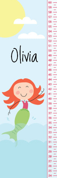 Merry Mermaid Growth Chart - frecklebox