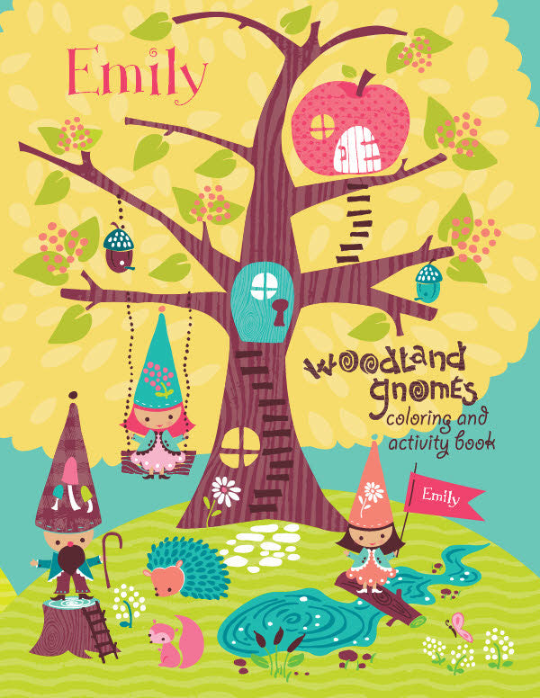 Woodland Gnomes Coloring Book - frecklebox