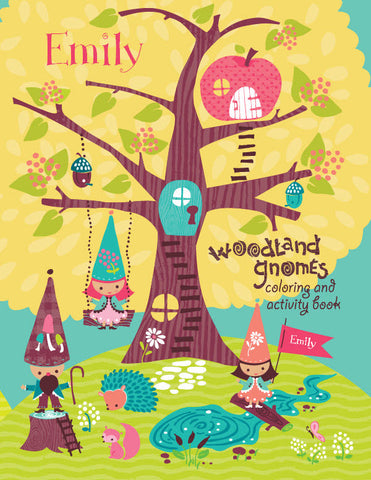 Woodland Gnomes Coloring Book