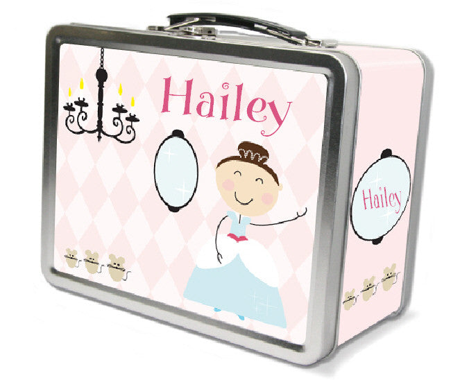 Dark Brown Hair Glam Princess Lunch Box - frecklebox