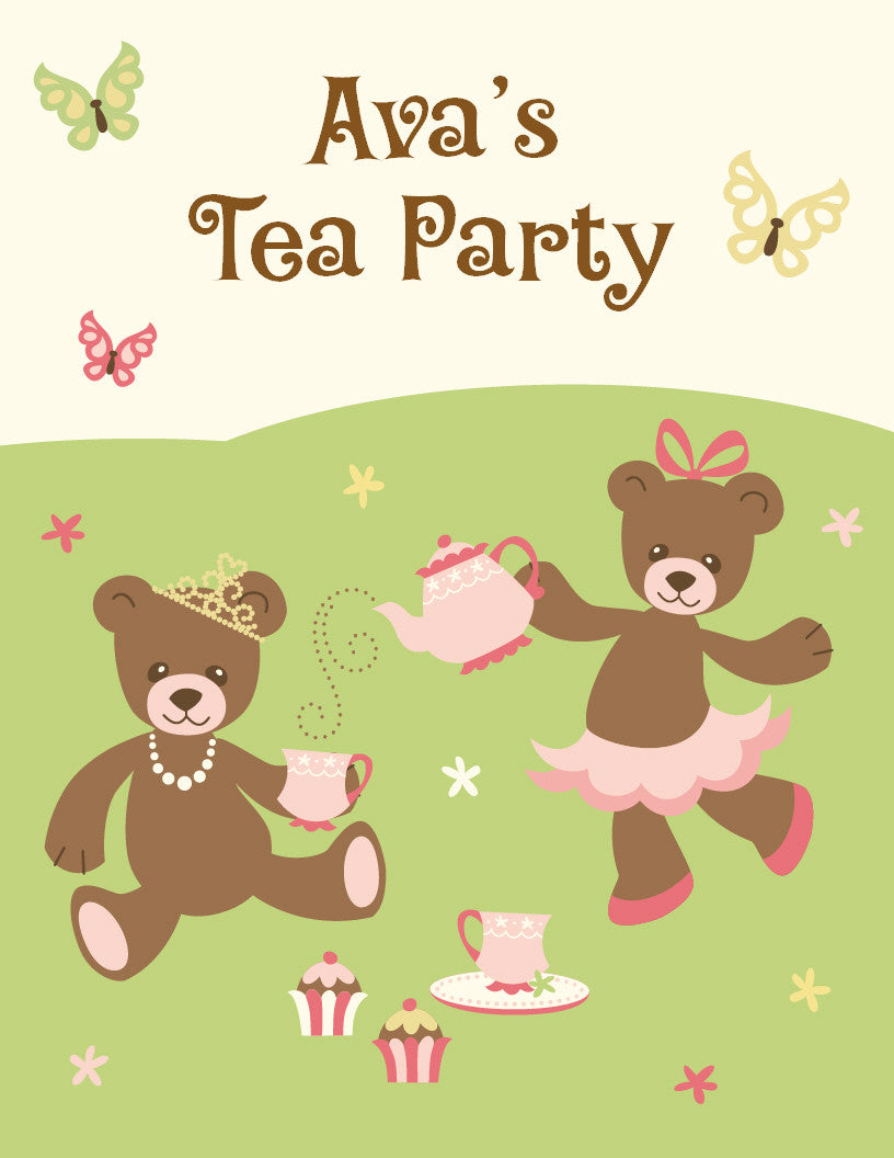 Tea Party Activity / Coloring Book - frecklebox