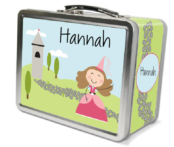 Light Brown Hair Princess Lunch Box - frecklebox